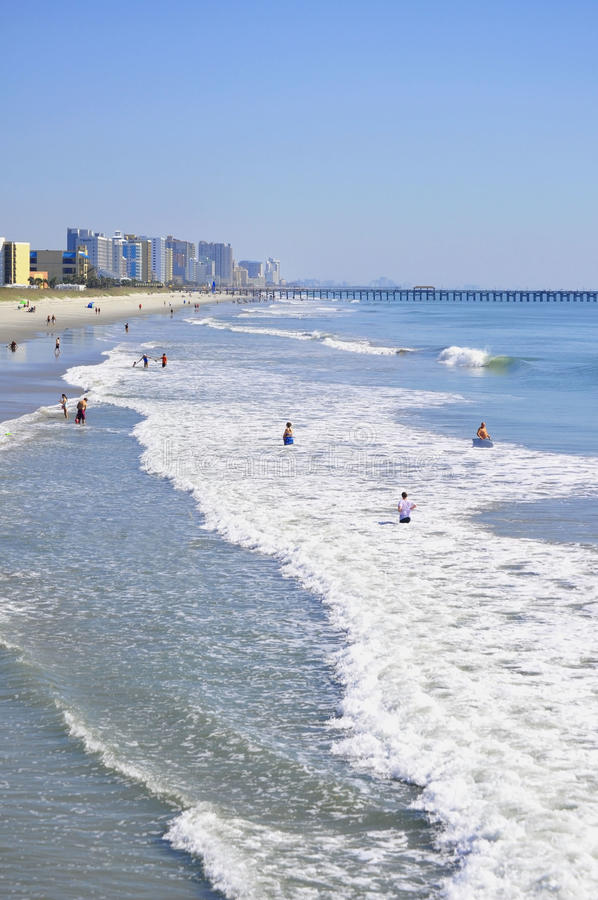 Opinião Myrtle Beach South Carolina fotografia de stock