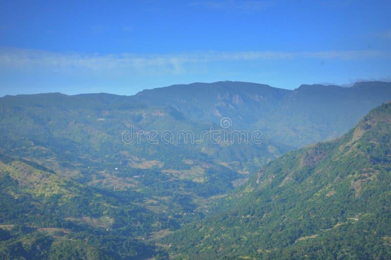 Opinião natural da paisagem da cordilheira em Sri Lanka imagem de stock royalty free