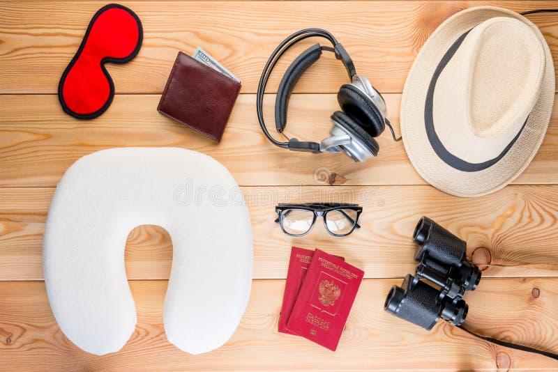 Opinião necessária importante das facilidades do viajante de cima de imagem de stock royalty free