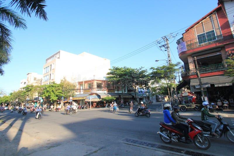 Opinião no Da Nang, Vietname da rua imagem de stock royalty free