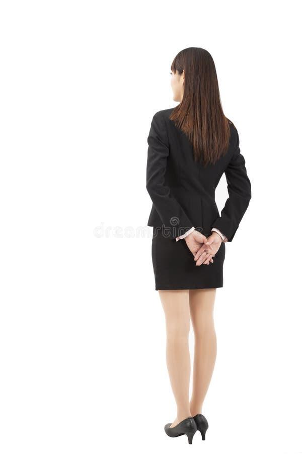 Opinião nova da parte traseira da mulher de negócios fotos de stock