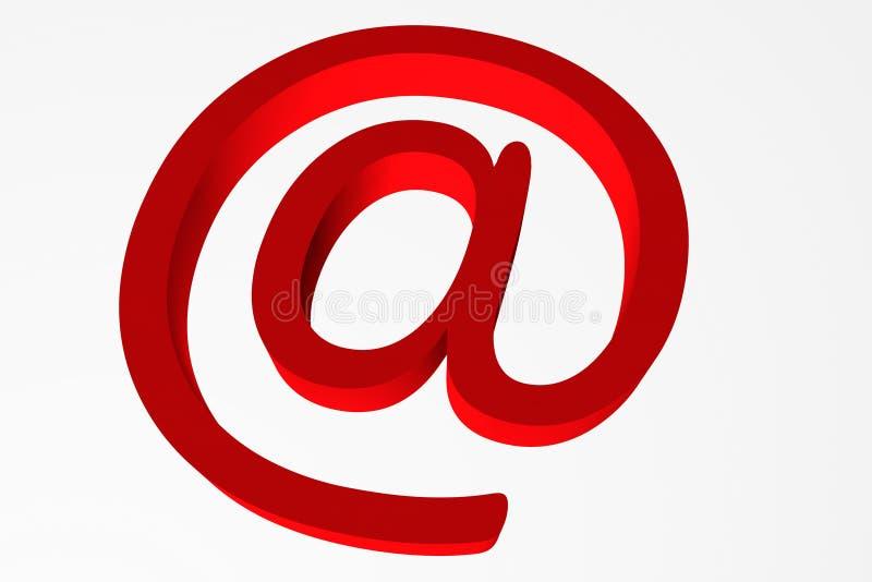 Opinião o caracol vermelho na ilustração branca do fundo 3d fotografia de stock royalty free