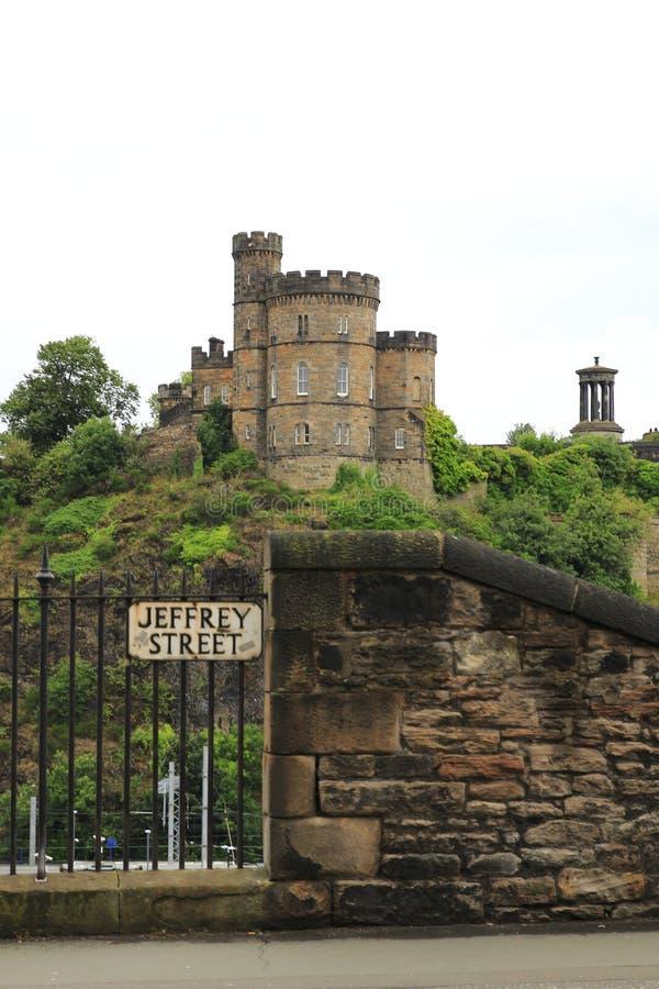Opinião o regulador histórico House, no monte de Calton, Edimburgo Escócia fotos de stock royalty free