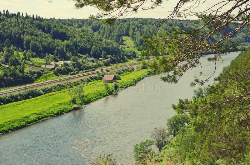 A opinião o Sylva do rio do quarenta-medidor fotografia de stock