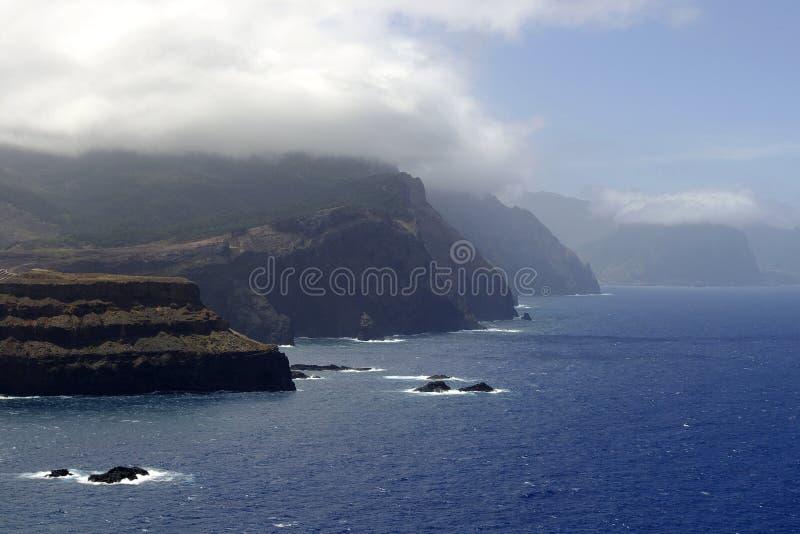 Opinião ocidental de Ponta de Sao Lourenco, Madeira fotos de stock
