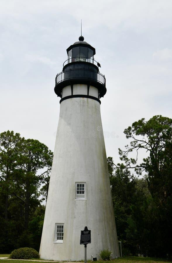 Opinião oriental Amelia Island Light fotos de stock