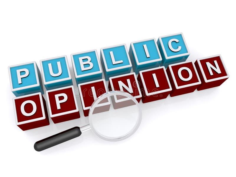 Opinião pública ilustração royalty free