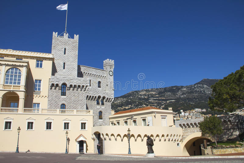 O Palácio do príncipe de Monaco fotos de stock
