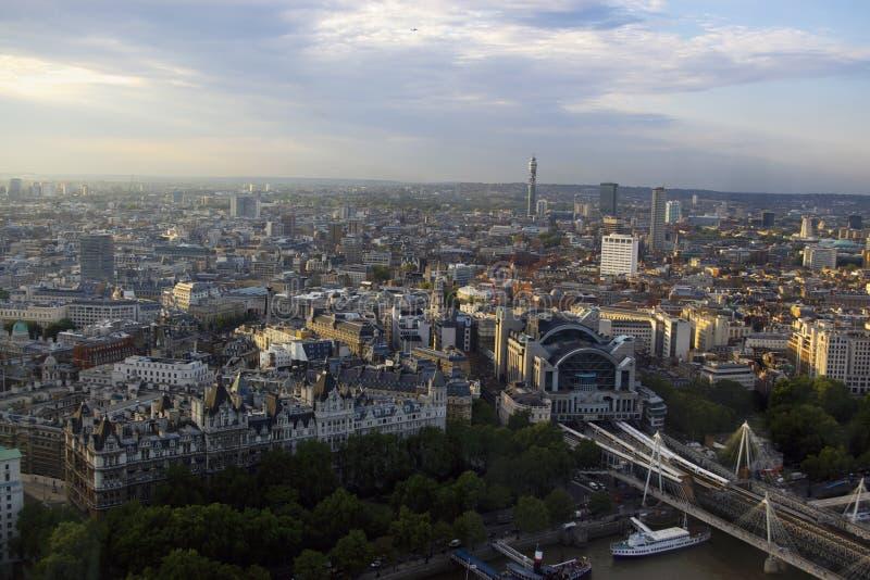Opinião panorâmico da cidade de Londres fotografia de stock royalty free