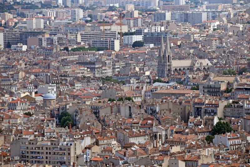 Opinião panorâmico da cidade de Marselha, França imagem de stock royalty free