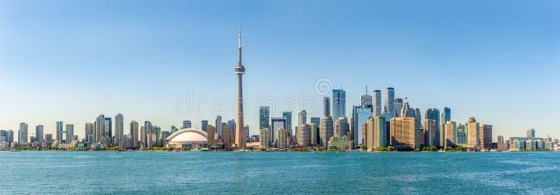 Opinião panorâmico da skyline na cidade de Toronto em Canadá fotos de stock royalty free