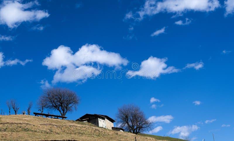 Opinião panorâmico de Alpes imagens de stock