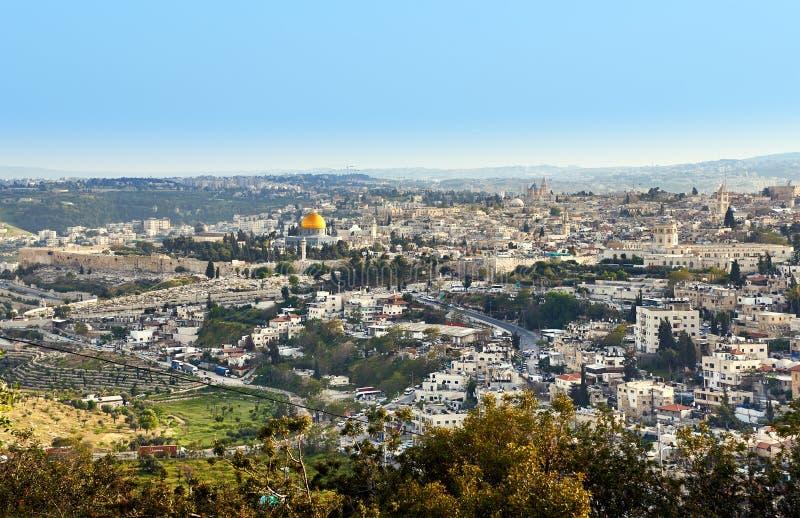 Opinião panorâmico de Jerusalem imagens de stock