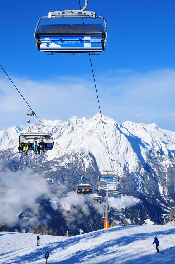 Opinião panorâmico do snowmountain, Kals-Matreis, Tirol, Áustria foto de stock royalty free