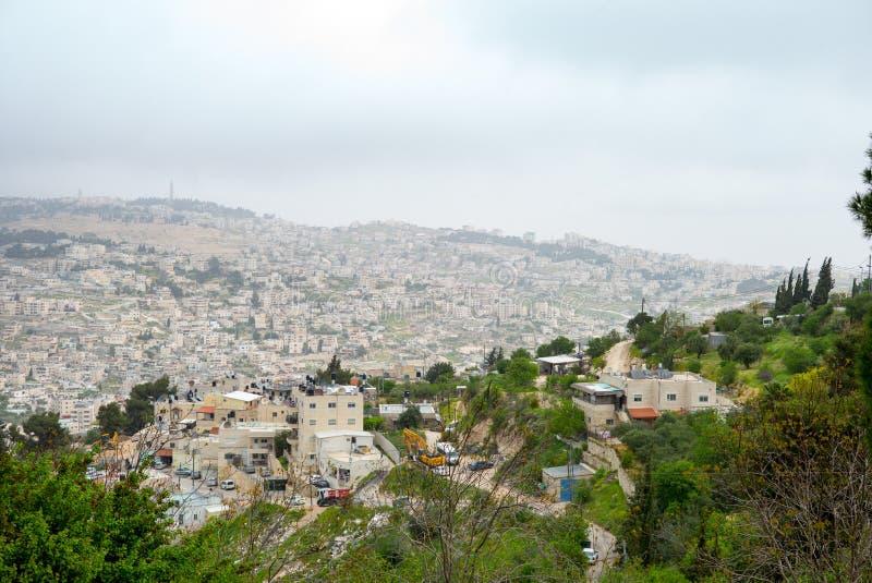 Opinião panorâmico do telhado do Jerusalém fotografia de stock royalty free