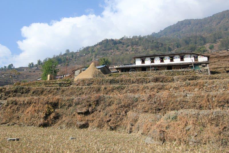 Opinião Poon Hill em Nepal imagens de stock