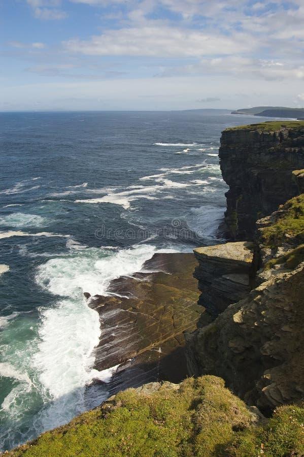 Opinião principal de Sunburgh, Shetland, Scotland fotos de stock