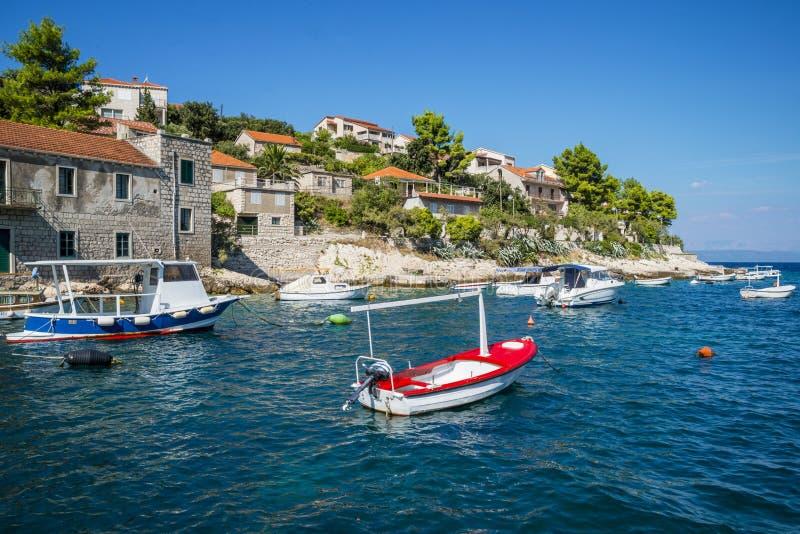 Opinião regional da ilha de Korcula, Croácia fotografia de stock royalty free