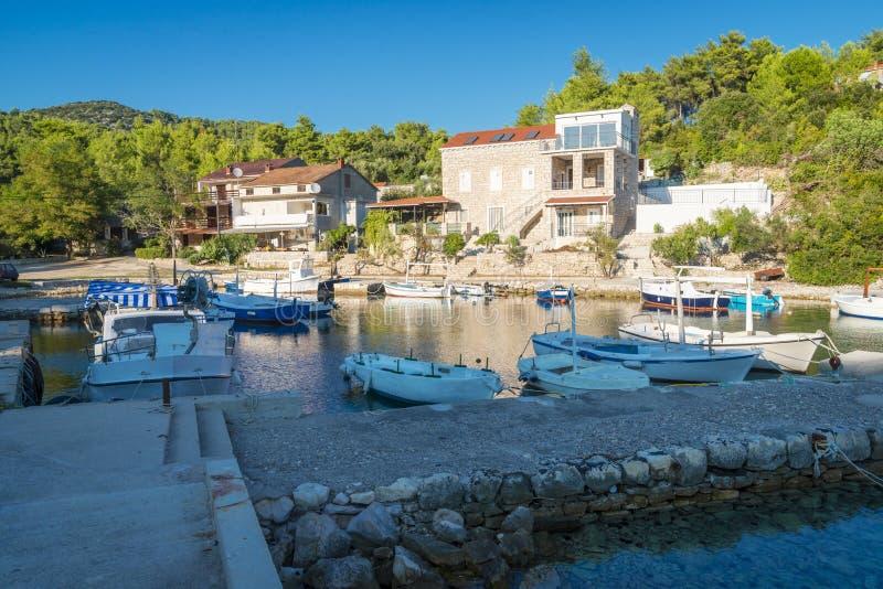 Opinião regional da ilha de Korcula, Croácia imagens de stock royalty free