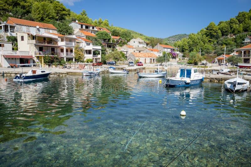 Opinião regional da ilha de Korcula, Croácia imagem de stock royalty free