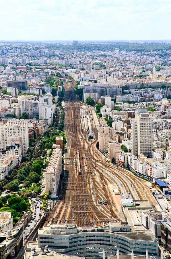 Opinião regional do estação de caminhos-de-ferro de Paris foto de stock