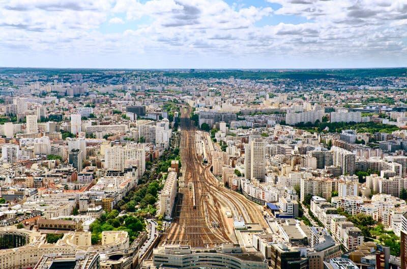Opinião regional do estação de caminhos-de-ferro de Paris imagem de stock