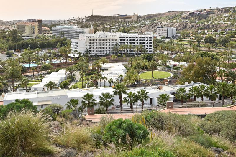 Opinião San Agostinho Gran Canaria fotos de stock