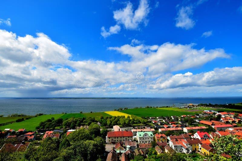 Opinião sueco da cidade fotos de stock