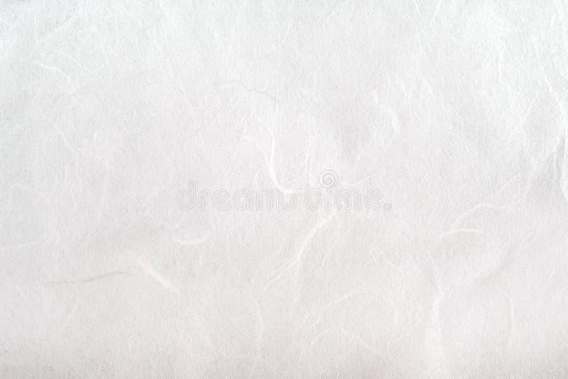 Opinião superior abstrata da textura de papel macia dos testes padrões da amoreira branca do foco para o fundo imagens de stock