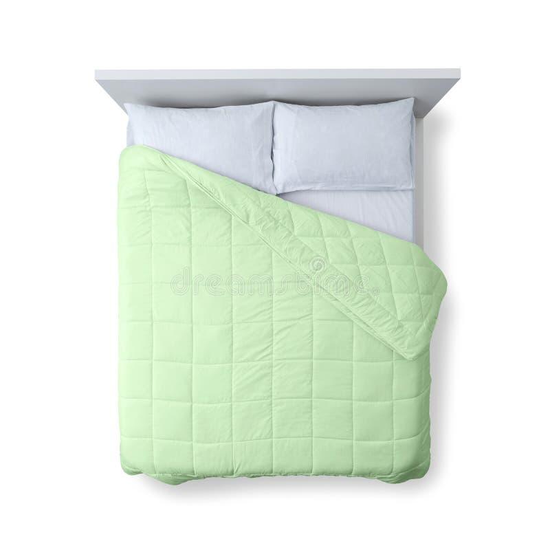 Opinião superior da cama elegante fotos de stock