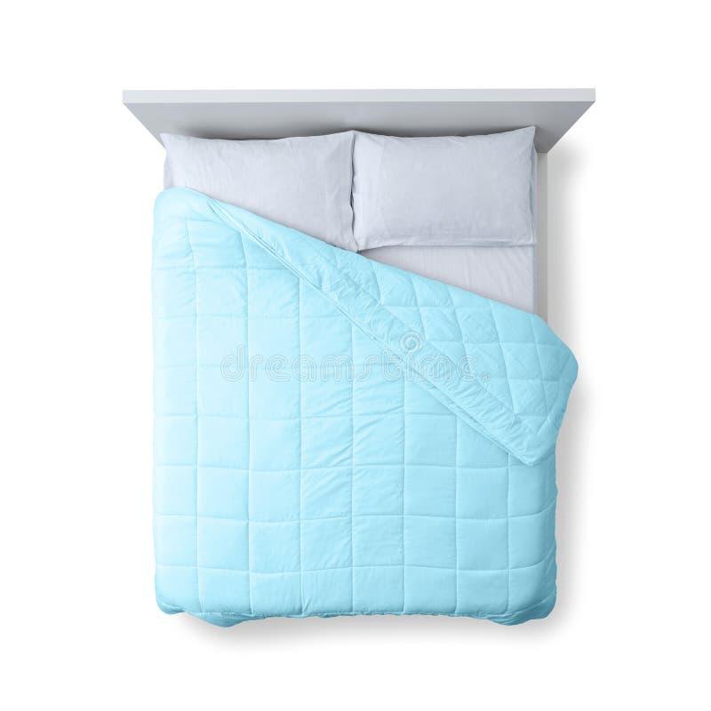 Opinião superior da cama elegante fotografia de stock royalty free