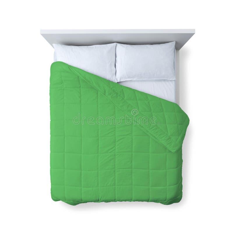 Opinião superior da cama elegante imagens de stock