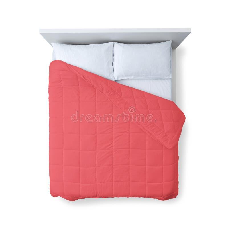 Opinião superior da cama elegante imagem de stock royalty free