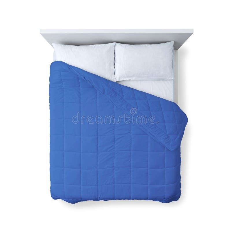 Opinião superior da cama elegante foto de stock