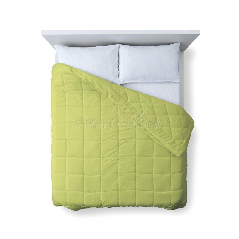 Opinião superior da cama elegante fotos de stock royalty free