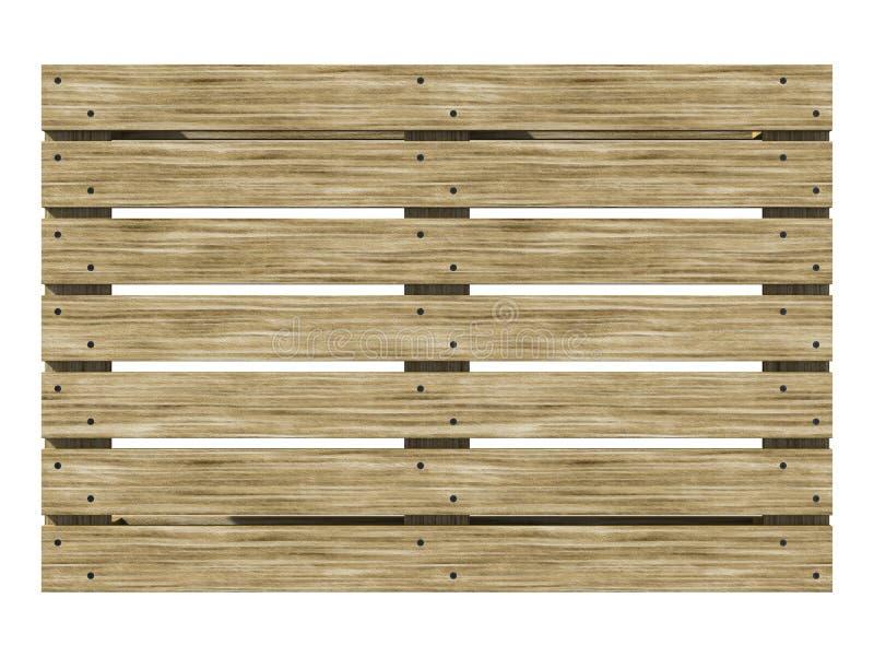 Opinião superior da Euro-placa de madeira ilustração 3D imagem de stock royalty free