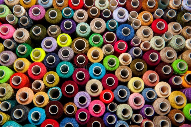 Opinião superior da linha colorido Textura fotografia de stock royalty free