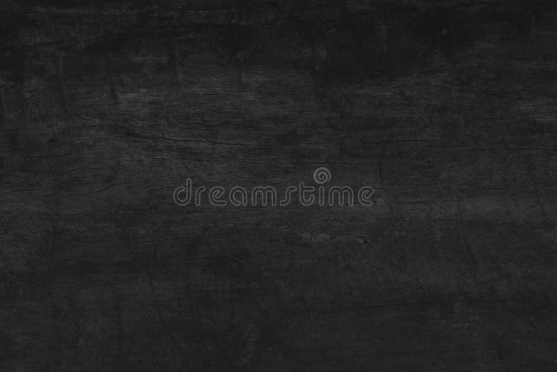 Opinião superior da textura preta de madeira da obscuridade do fundo da tabela, placa de assoalho g imagens de stock royalty free