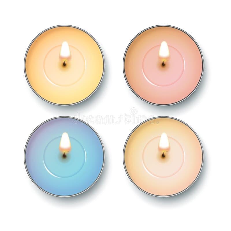 Opinião superior da vela ilustração stock