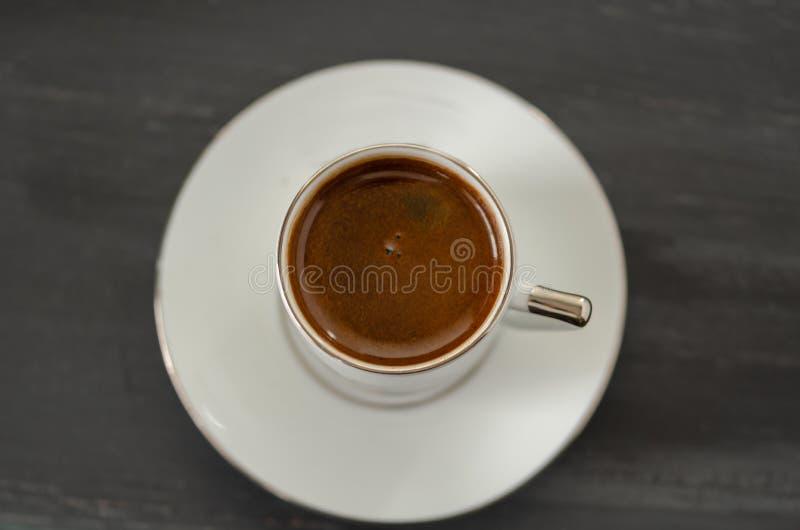 Opinião superior de café turco fotografia de stock
