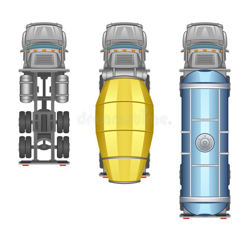 Opinião superior do caminhão ilustração do vetor