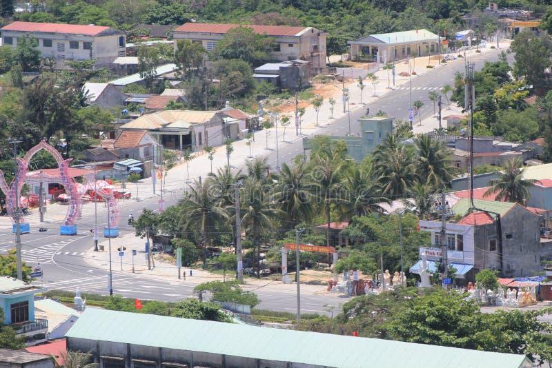 Opinião superior do distrito do Da Nang de Vietname imagens de stock