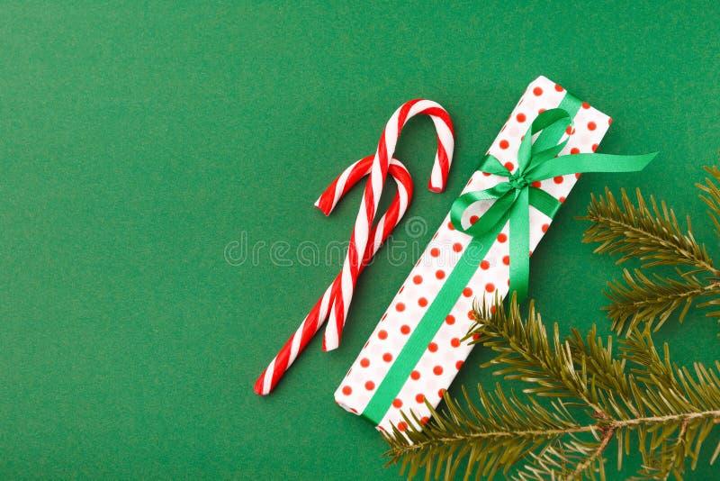 Opinião superior do fundo da preparação do Natal foto de stock royalty free