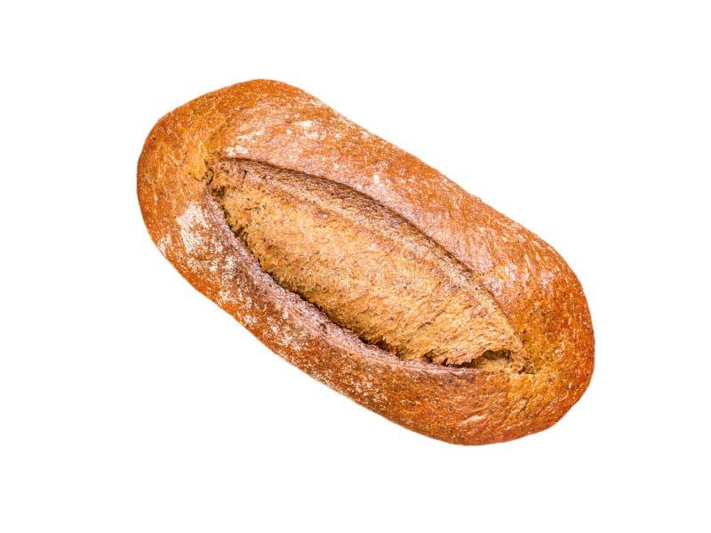 opinião superior do naco do pão da Inteiro-grão imagens de stock