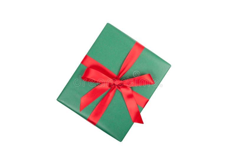 Opinião superior do presente do Natal imagem de stock royalty free