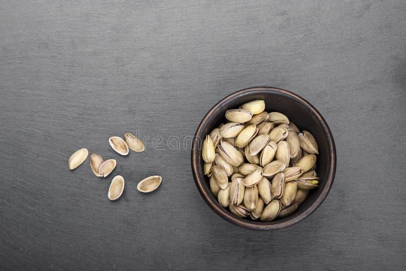 Opinião superior dos pistaches fotos de stock