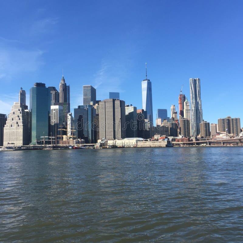 Opinião surpreendente de New York City fotos de stock