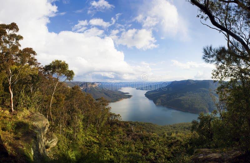 Opinião Sydney do lago imagens de stock royalty free