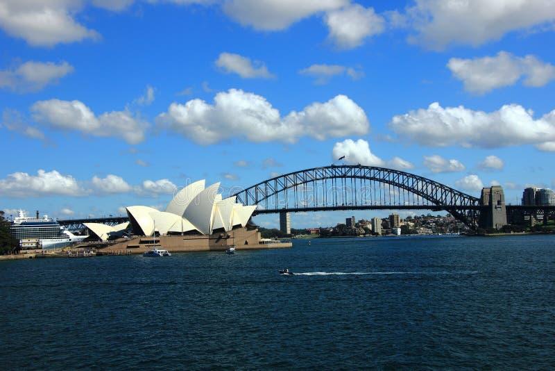 A opini?o Sydney Harbor imagem de stock