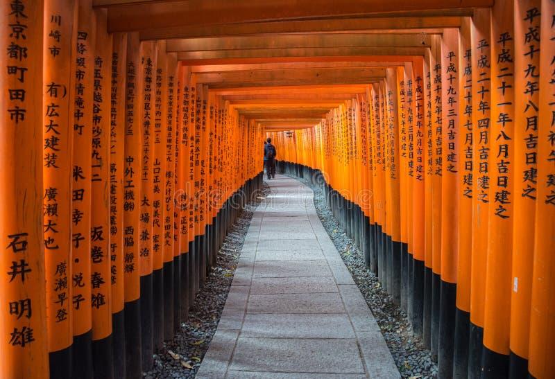 Opinião Tori Gate vermelha em Fushimi imagem de stock royalty free